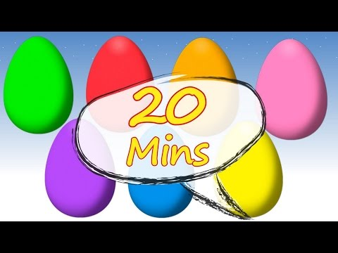 20 Minutes Animated Surprise Eggs for Learning Colors | Children's educational video
