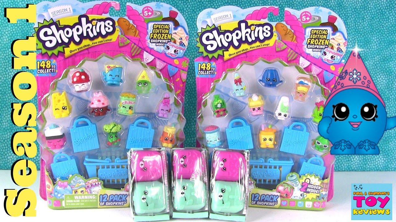 Shopkins Season 1 12 Packs Season 5 2 Pack Opening Pstoyreviews Youtube