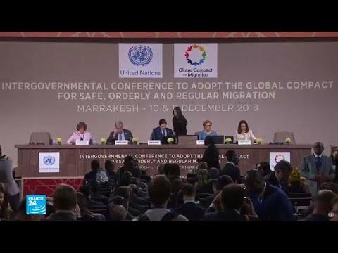 نحو 150 دولة تتبنى ميثاق الأمم المتحدة حول الهجرة في مؤتمر مراكش  - نشر قبل 22 ساعة