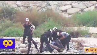 Sereno perdió la vida al ser arrastrado por el Río Rímac