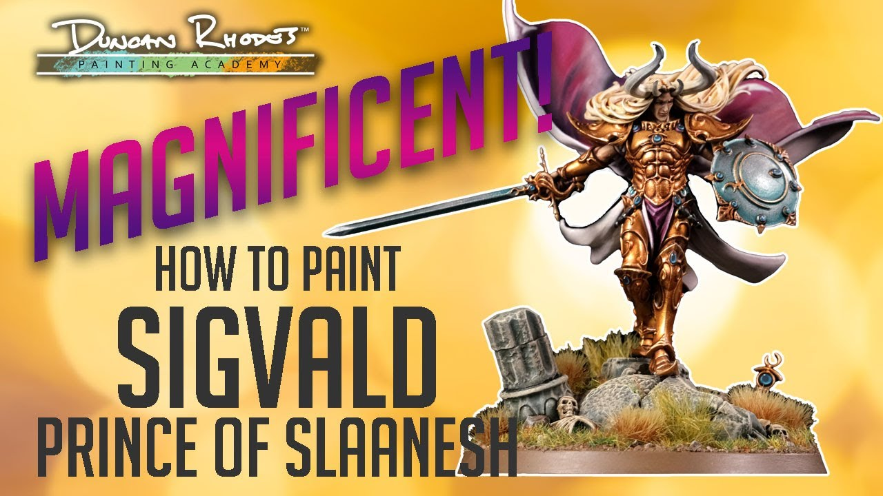 MAGNIFICENT!!! How to paint Sigvald, Prince of Slaanesh.