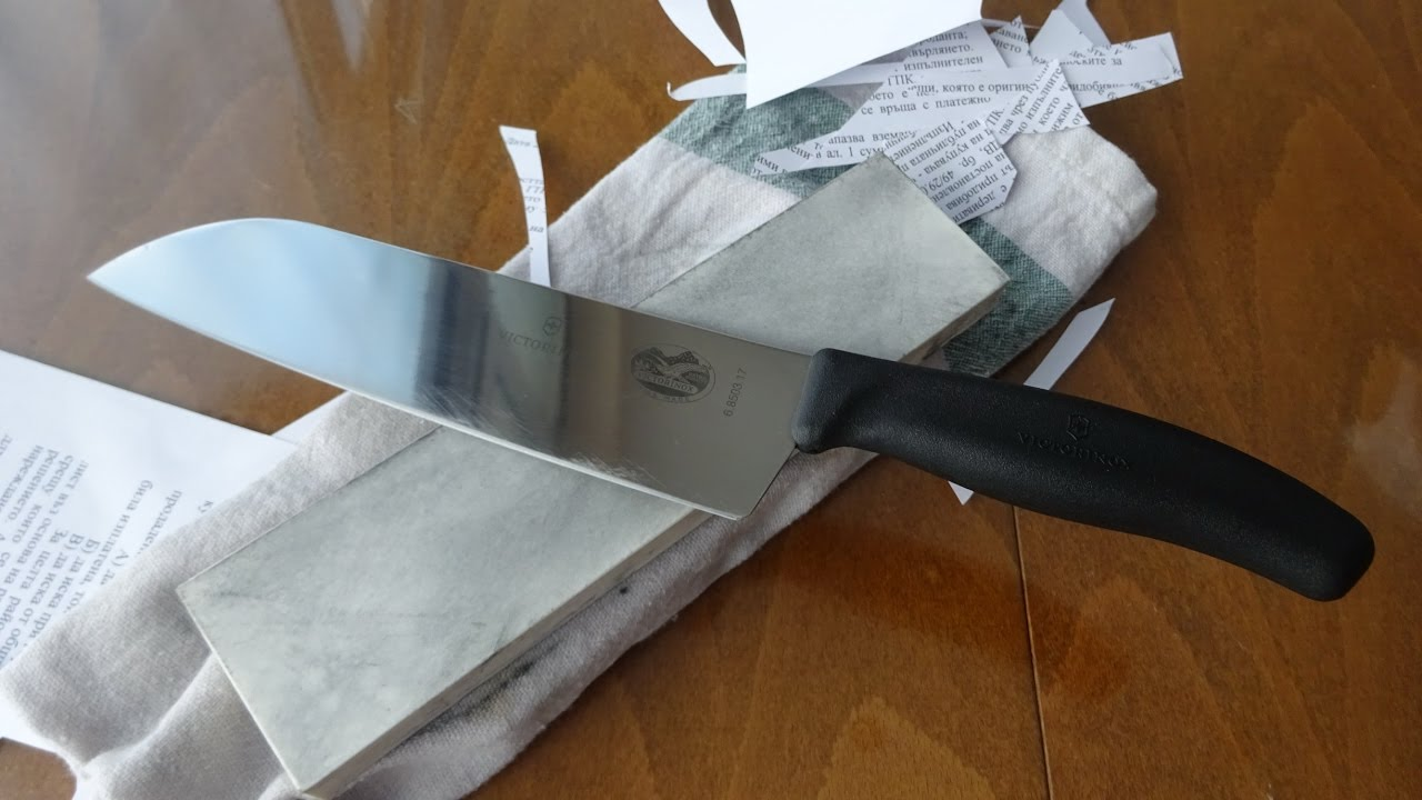 sharpening victorinox santoku with missarka 500 sharpening stone