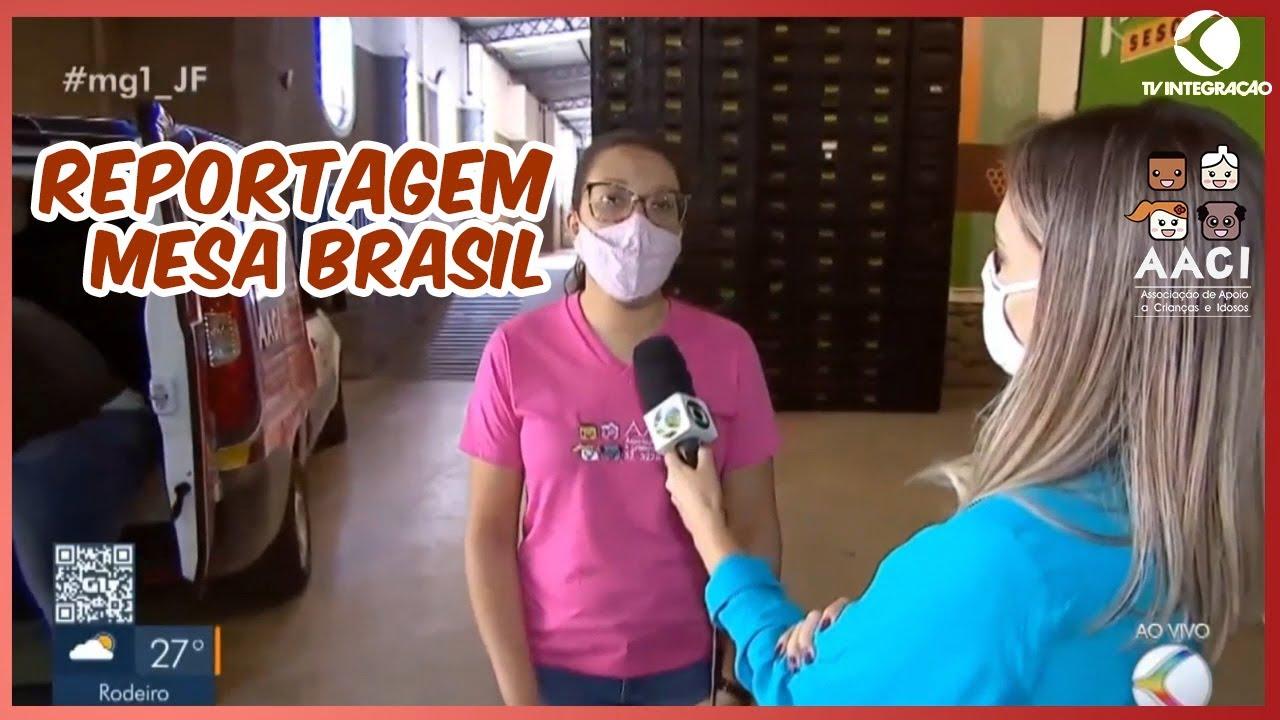 Reportagem Tv Integração sobre campanha Juiz de Fora solidária e Mesa Brasil