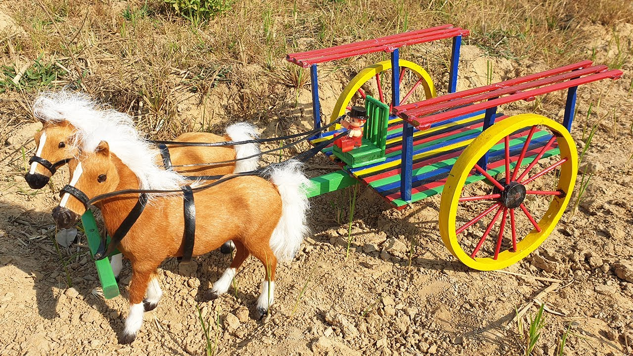 How To Make Horse Cart - DIY Woodworking Projects