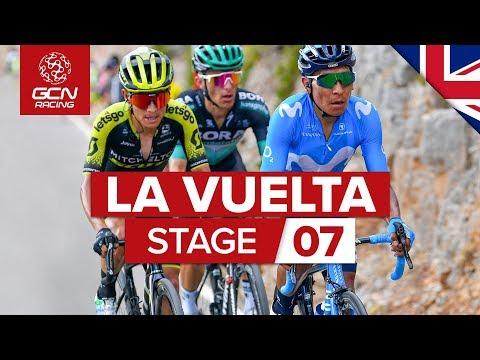 Vuelta A España 2019 Stage 7 Highlights: Steepest Climb Of La Vuelta 25% Gradients!!! | GCN Racing