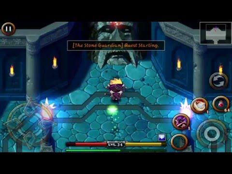 Zenonia 4 - 4th boss ( The Stone Guardian ) ( Blader Class )