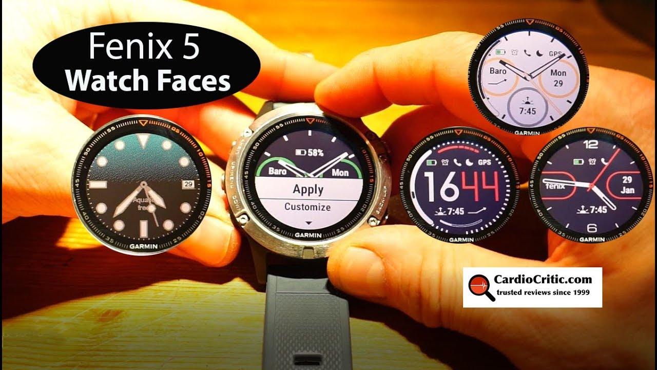 Watch Faces for the Garmin Fenix 5 (including urTime Aquatic)