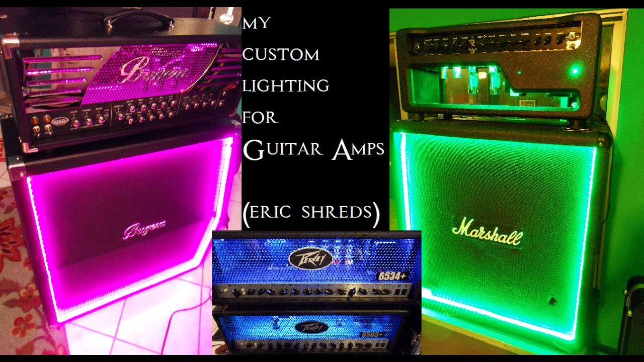 how i put lights in my guitar amps eric shreds youtube. Black Bedroom Furniture Sets. Home Design Ideas