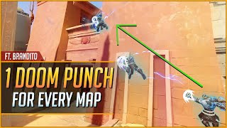 1 DOOMFIST DIAGONAL PUNCH for EVERY MAP ft. Brandito