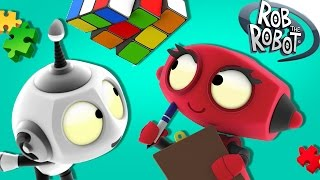 Cartoon   Learn Something New With Rob   Cartoon For Kids   Rob The Robot