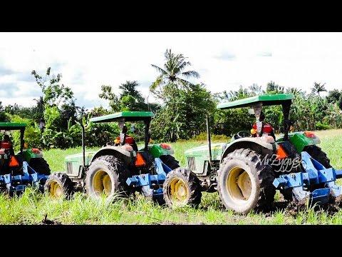 John Deere 5715 Ford Tractor Pulling Ploughing Sugarcane Farm Field