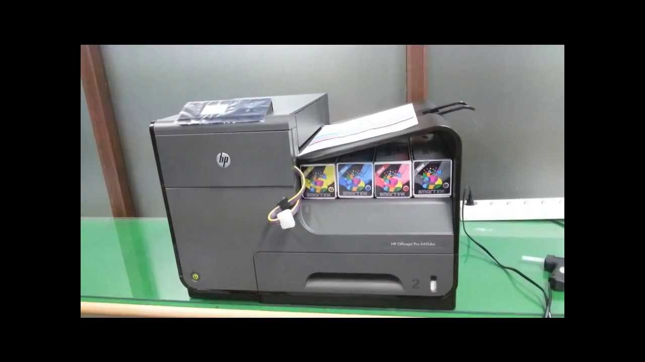 Smart Ink Hp Officejet Pro X Ciss Pack Seting Youtube