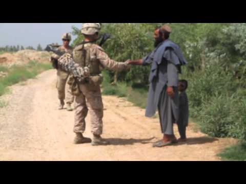 Marines support Afghan led operation
