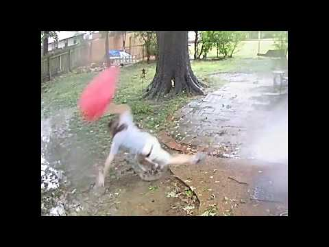 Guy Nearly Gets Hit by Fallen Tree Branch