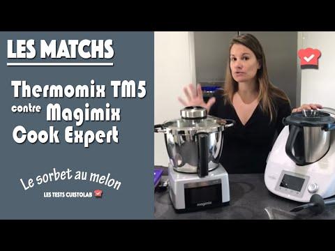 Thermomix TM5 contre Magimix Cook Expert : préparation d'un sorbet