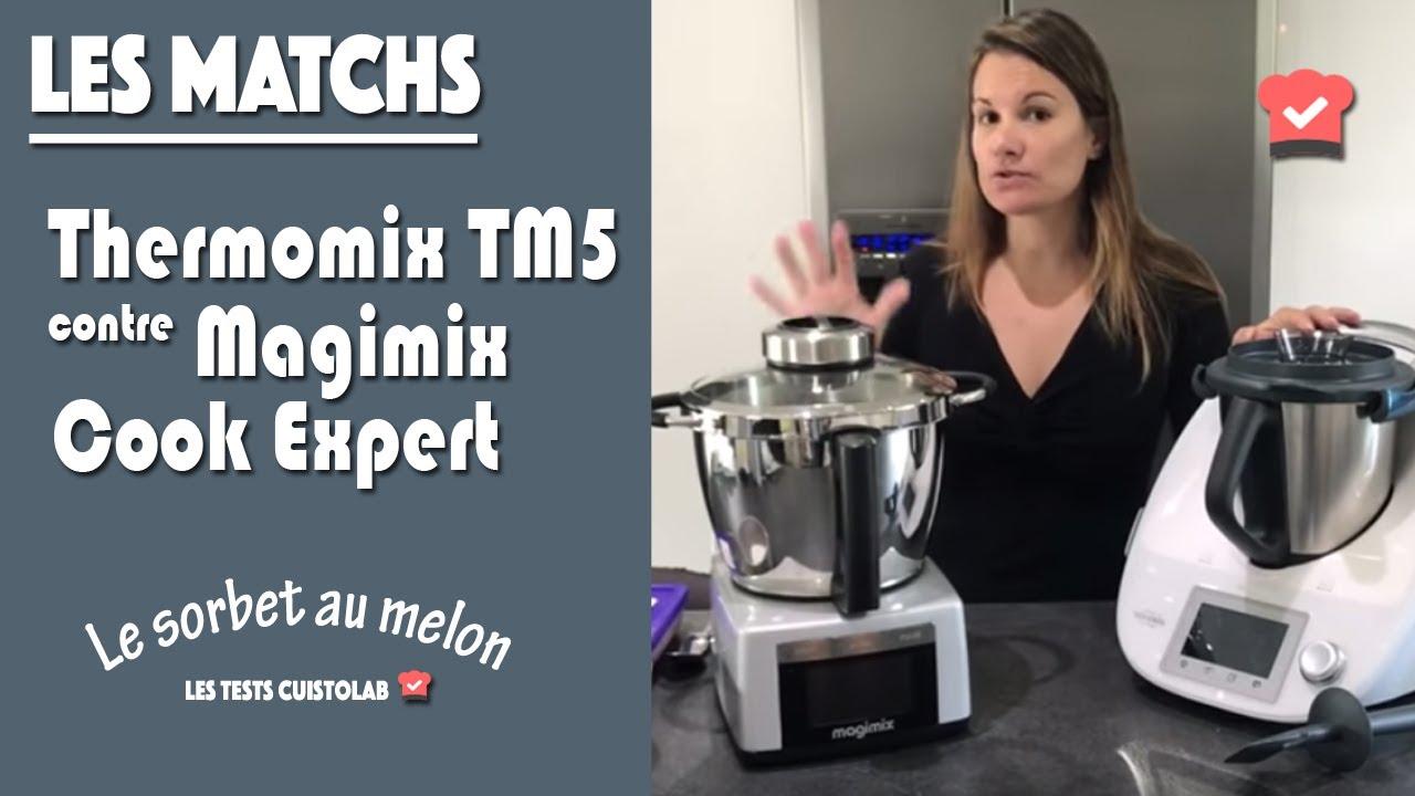 thermomix tm5 contre magimix cook expert pr paration d 39 un sorbet youtube. Black Bedroom Furniture Sets. Home Design Ideas