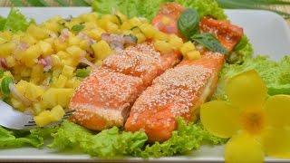 Красная рыба в апельсиновом соусе