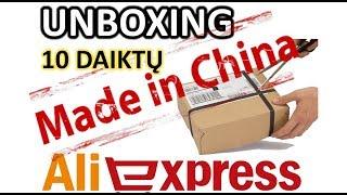 Unboxing 10 daiktų iš Aliexpress iki 2 eurų.