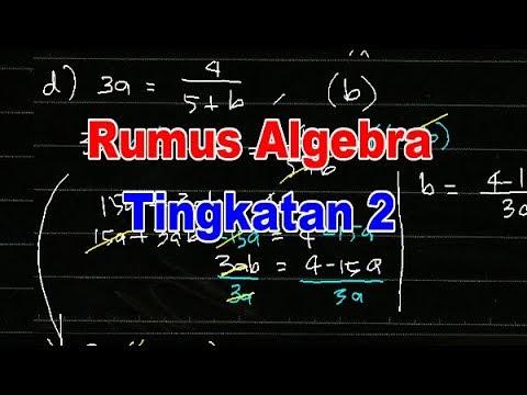 Bab 3 Rumus Algebra Tingkatan 2 Jom Cuba 3 1 Youtube