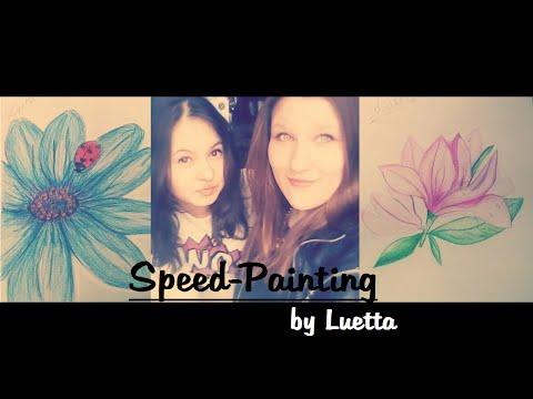 Speed Painting – How to draw flowers/Blumen – selber zeichnen