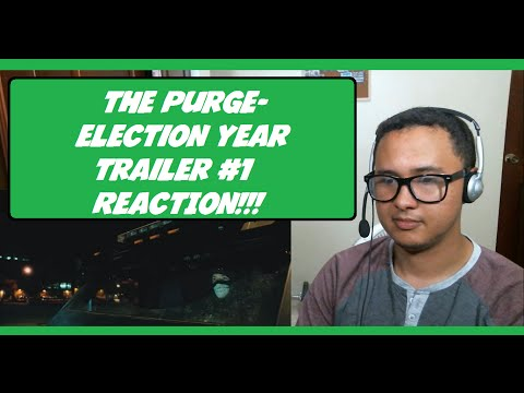 The Purge  Election Year Official Trailer #1 2016 REACTION!!!
