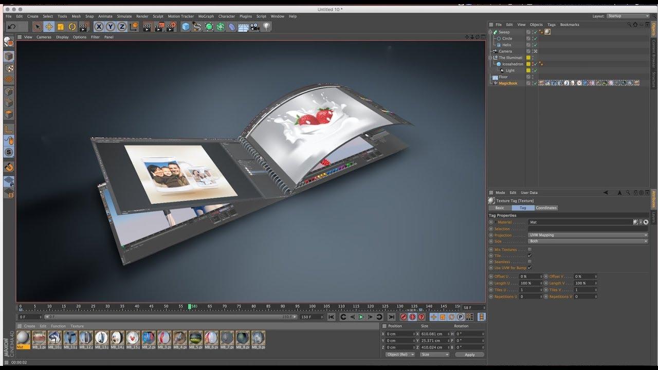 MAGIC Book Animation in Cinema 4D R16 Tutorials (So Easy Method)