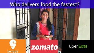 Fastest food delivery: Swiggy vs Zomato vs Uber Eats