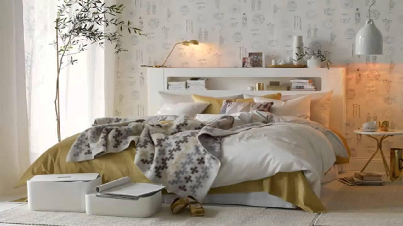 تصاميم غرف نوم ابيض وذهبي       YouTube