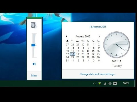 How to Enable Windows 7 like Volume Control and Calendar Tray in Windows 10