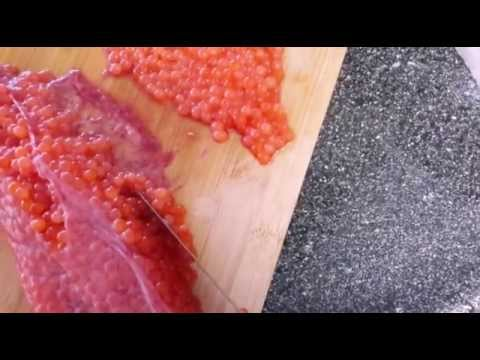 FAST WAY TO CLEAN FISH EGGS