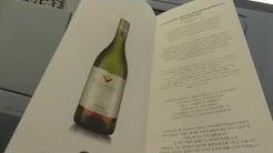 Finnair menu and wine list