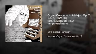 Organ Concerto in A Major, Op. 7, No. 2, HWV 307 (arr. V. Mangor) : II. A tempo ordinario