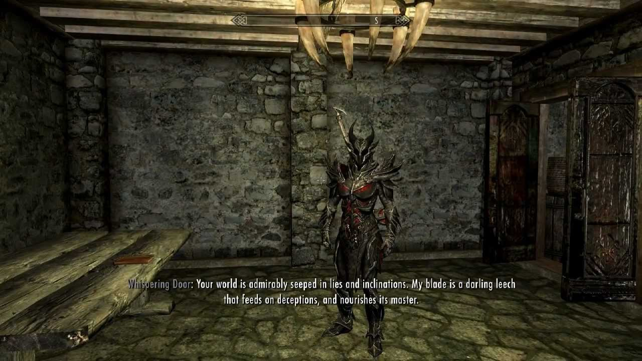 Skyrim  The Whispering Door - How to get Daedric Artefact Ebony Blade (Mephala) - YouTube & Skyrim : The Whispering Door - How to get Daedric Artefact Ebony ...