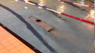 Koen diving off the blocks- Lincoln University Swimming Club