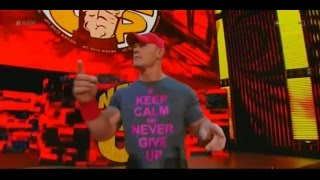 "John Cena Theme with Crowd Singing ""John Cena Sucks!"" on WWE Raw 10/06/2014 HQ"