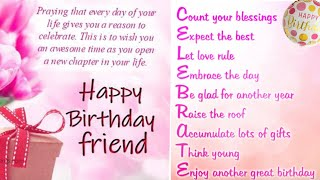 Best friend birthday status with best birthday wishes and friendship quotes | birthday song status