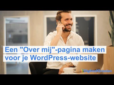 """Een """"Over mij""""-pagina maken voor je WordPress-website"""