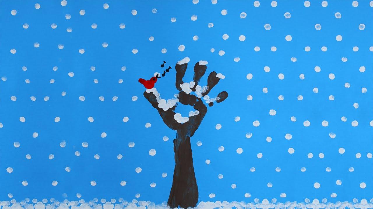 Arbre hiver peinture