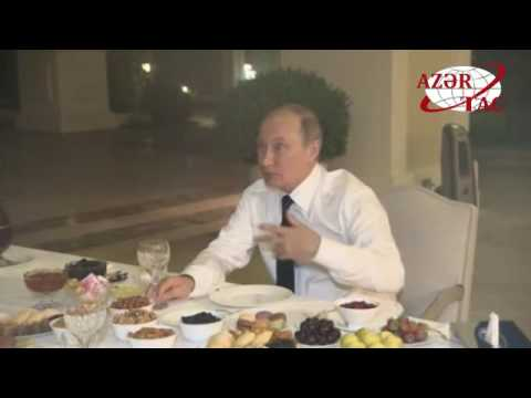 President Ilham Aliyev invited Russian President to tea at his house