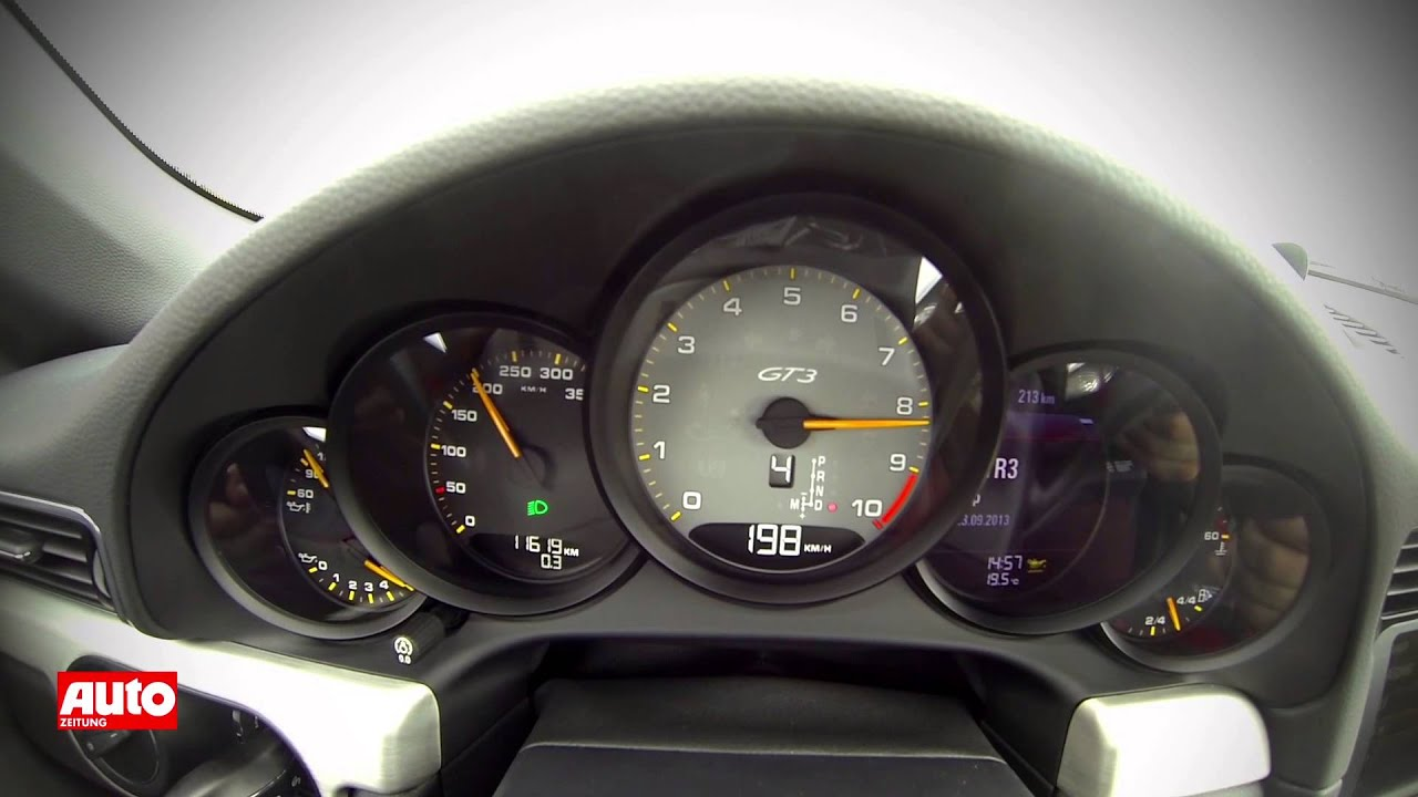 Porsche 918 Spyder >> Porsche 911 GT3 2013: Tacho-Video und Drifts im 991 - YouTube