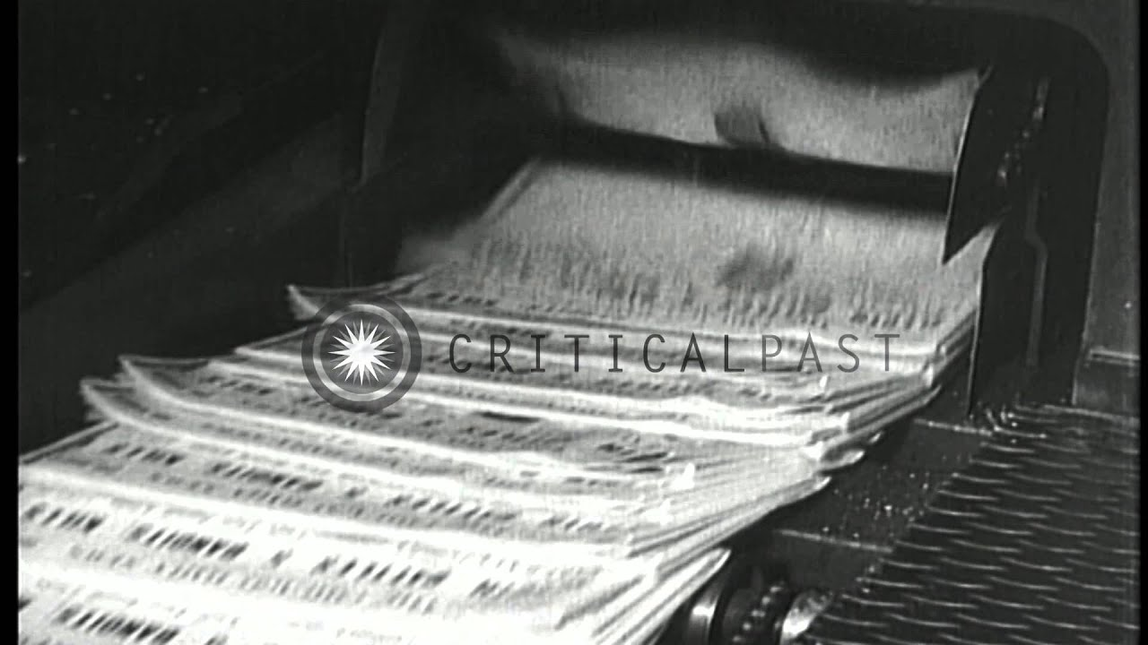 The Newspapers Come Out From A Machine At Printing Press In United States HD Stock Footage