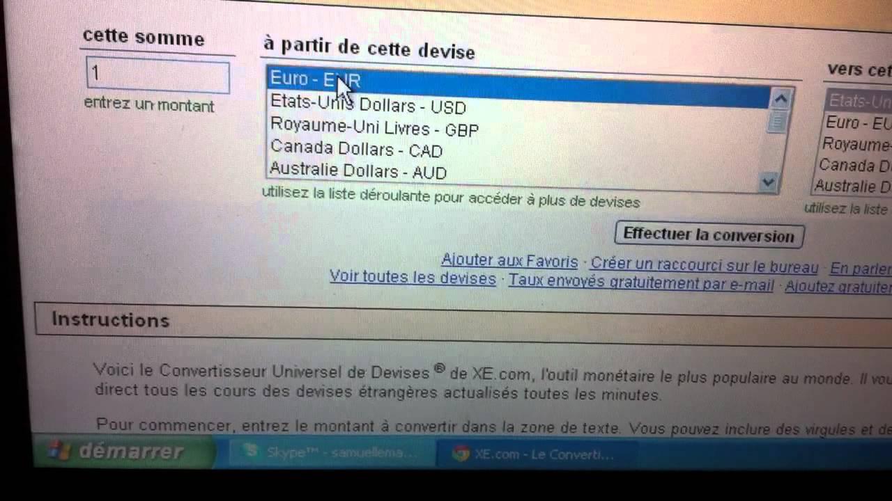 convertisseur universel de devises