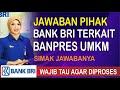 - Jawaban Bank BRI Terkait Banpres UMKM