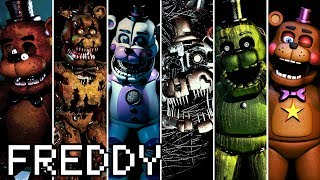 Evolution Of Freddy In FNAF (2014-2018)