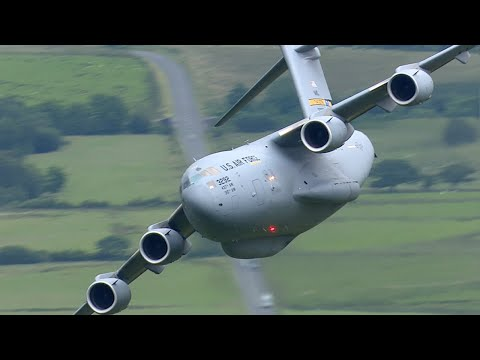 Legendary low level C-17 Globemaster in the Mach Loop - 7th July 2017