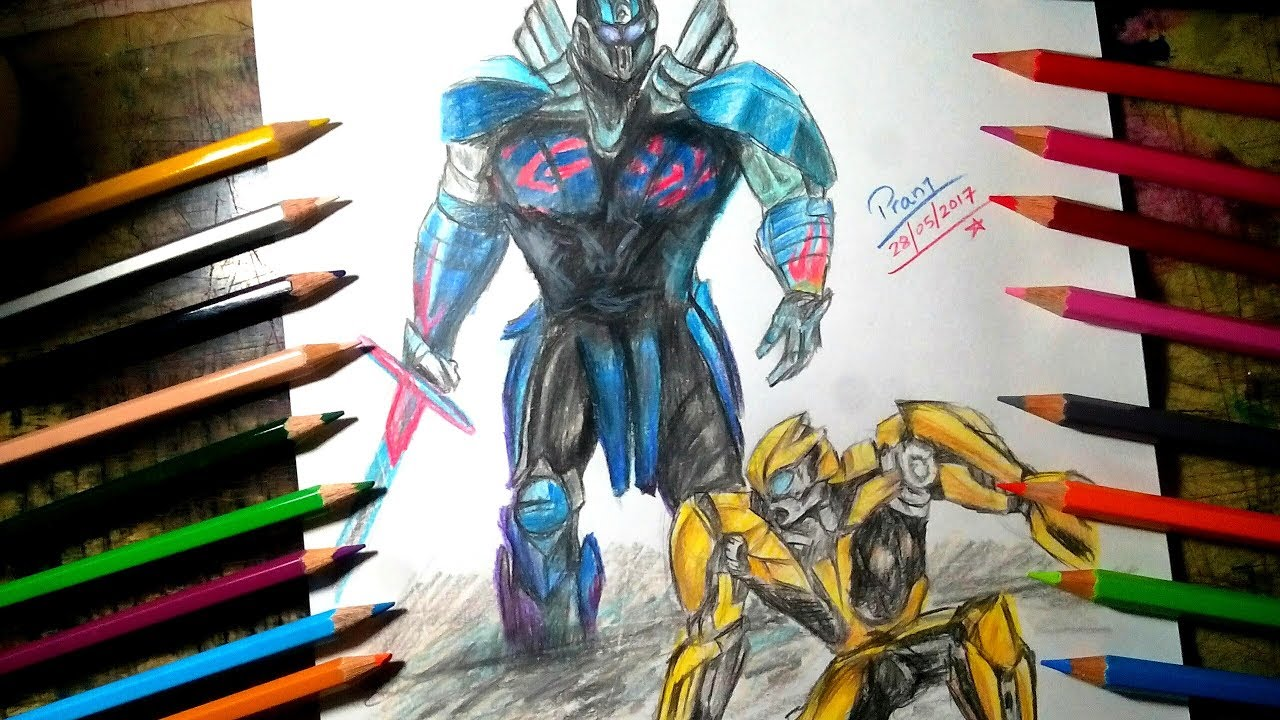 Drawing Transformers The Last Knight Poster Drawing Optimus Prime