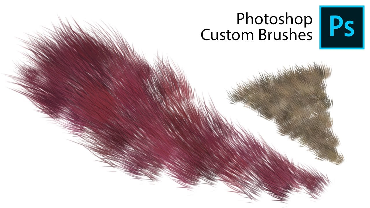 Photoshop Hair Brushes - Brush Demo