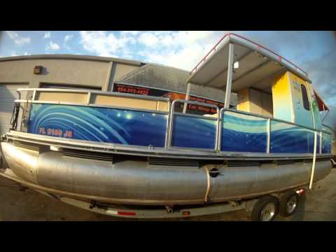 Boat Graphics  Vinyl Wraps Dania Beach Florida By Car Wrap - Vinyl graphics for pontoon boats