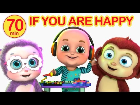 If You Are Happy and You know it   Nursery Rhymes Compilation from Jugnu Kids