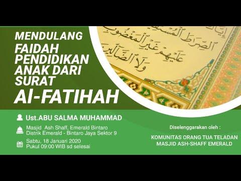MENDULANG FAIDAH PENDIDIKAN DARI SURAT AL-FATIHAH